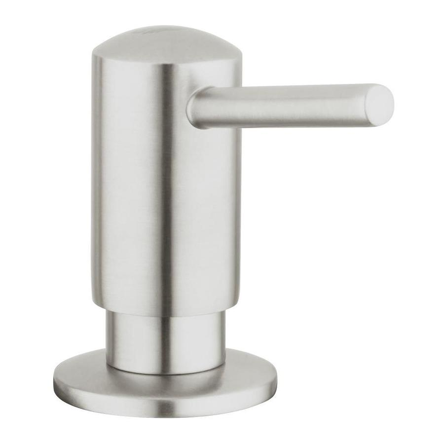 Grohe K7 Supersteel 1 Handle Deck Mount Pull Down Handle Kitchen Faucet In The Kitchen Faucets Department At Lowes Com