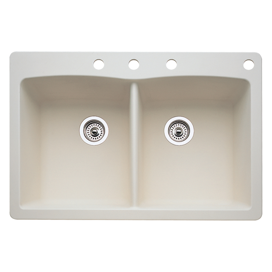 Lowes Kitchen Sink: Shop BLANCO Diamond 22-in X 33-in Biscuit Double-Basin