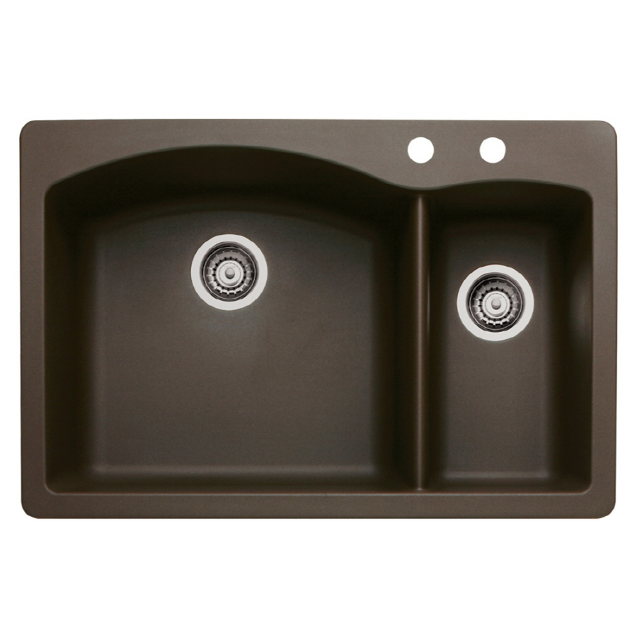 Shop Blanco Diamond 22 In X 33 In Cafe Brown Double Basin