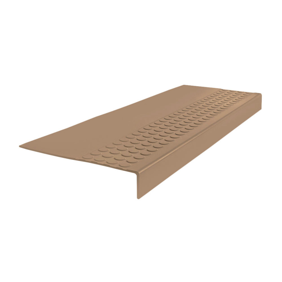 Flexco #550 Series Rubber Stair Tread 54-In Cappuccino Rubber Stair Stringers 5455000P065