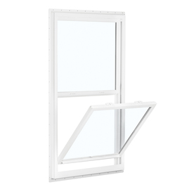 Reliabilt 150 Vinyl New Construction White Exterior Single Hung Window (Rough Opening: 32-In X 60-In; Actual: 31.5-In X
