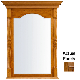 ginger bathroom mirrors shop kraftmaid 28 95 in w x 37 05 in h with 12950