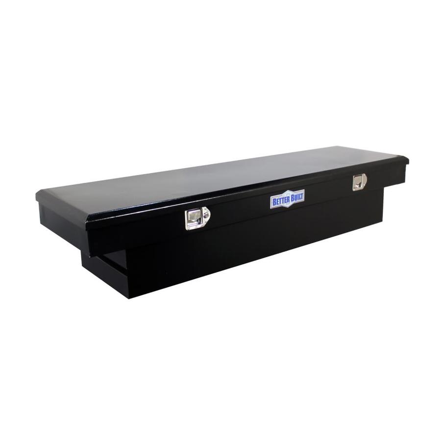 Better Built 69-in x 20-in x 13-in Black Powder-Coat Steel Crossover Truck Tool Box Stainless Steel | 73210128