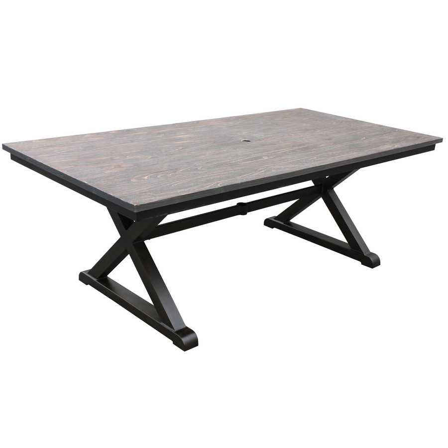 best rectangular metal patio table patio design 381. Black Bedroom Furniture Sets. Home Design Ideas