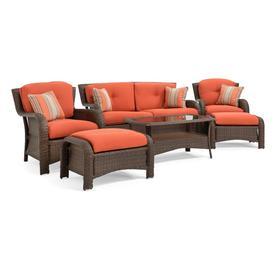 Display Product Reviews For Sawyer 6 Piece Steel Frame Patio Conversation  Set With Grenadine Orange