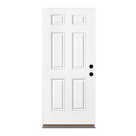 Therma Tru Benchmark Doors 32 In X 80 In Fiberglass Left Hand Outswing Ready To Paint Unfinished Prehung Single Front Door In The Front Doors Department At Lowes Com See the best & latest exterior outswing door landing code on iscoupon.com. lowe s