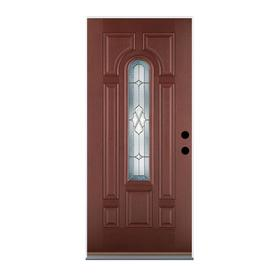 Bon Display Product Reviews For Willowbrook Left Hand Inswing Dark Mahogany  Stained Fiberglass Entry Door With