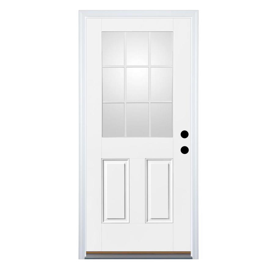 Lowes Exterior Doors: Shop Therma-Tru Benchmark Doors Half Lite Clear Prehung