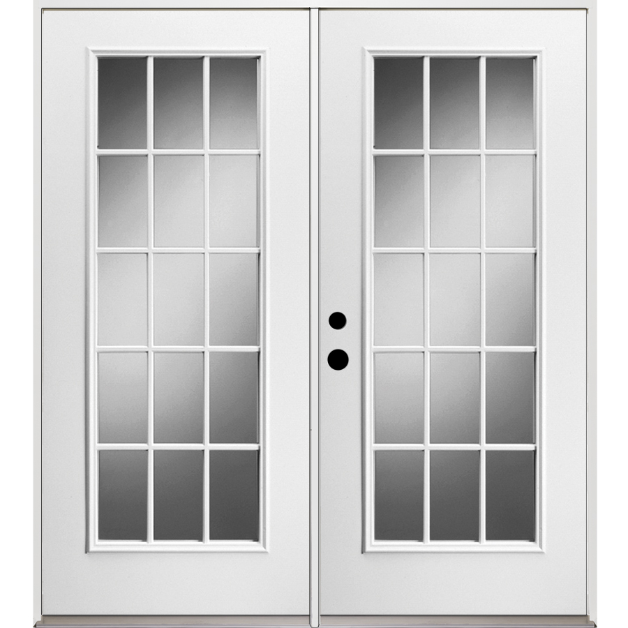 French Exterior Doors Steel: Shop ReliaBilt 71.375-in 15-Lite Grilles Between The Glass