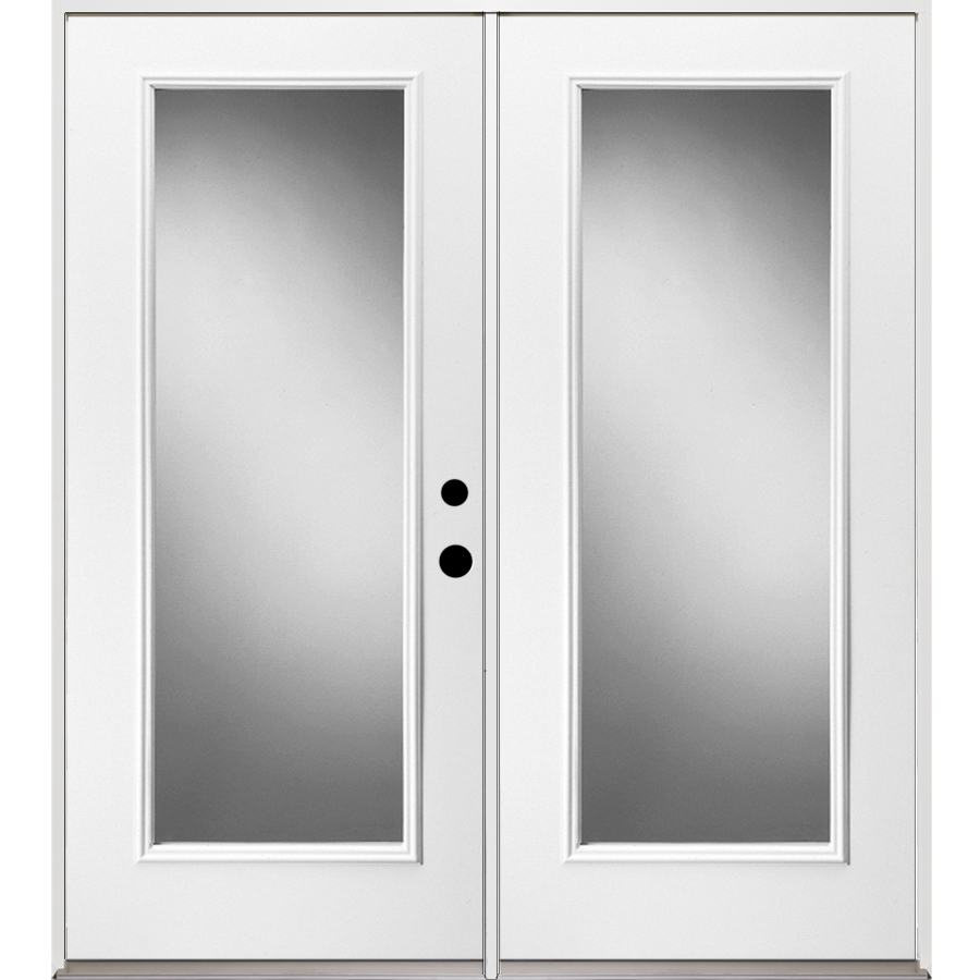 French Exterior Doors Steel: Shop ReliaBilt 71.375-in 1-Lite Glass Steel French Inswing