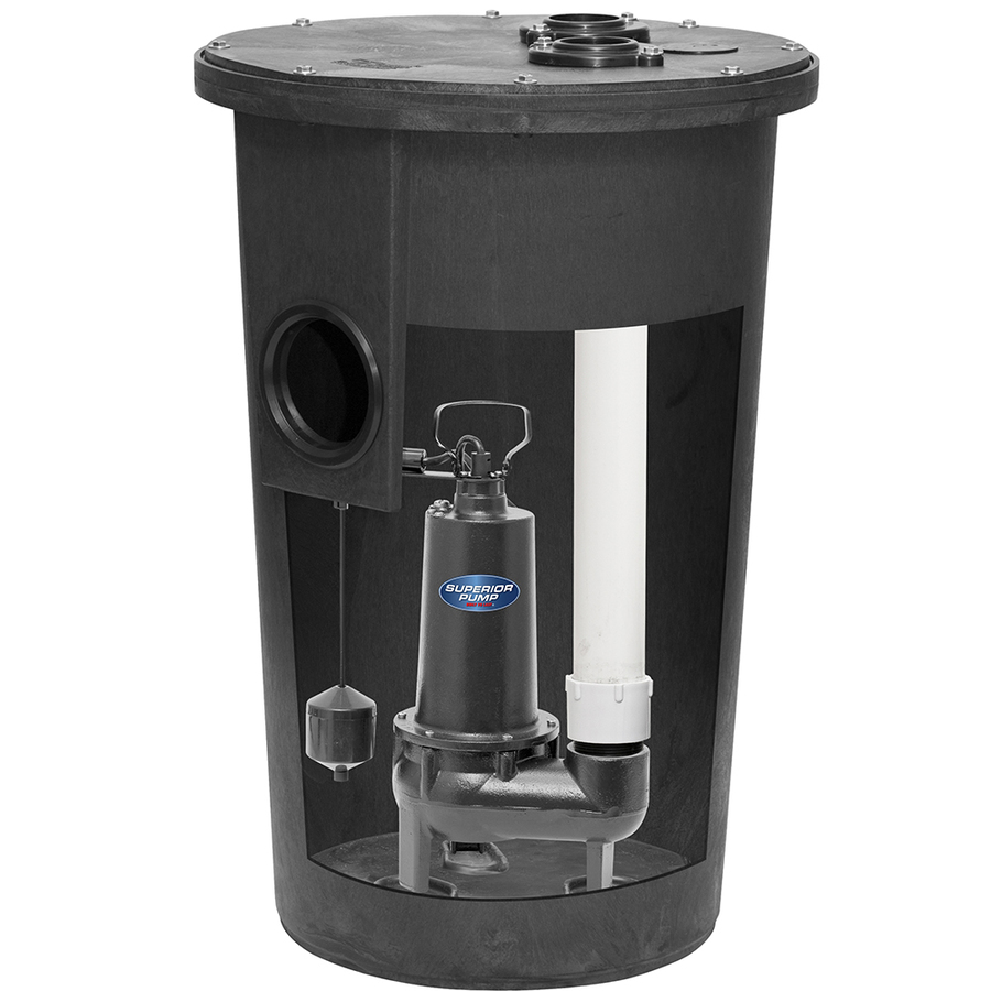 Superior Pump Sewage 0.5-Hp Cast Iron Sewage Sump Pump 93020-U