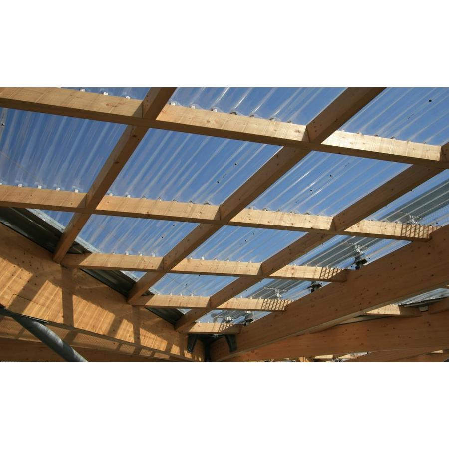 Tuftex Polycarb 2 17 Ft X 12 Ft Corrugated Clear Polycarbonate Plastic Roof Panel In The Roof Panels Department At Lowes Com