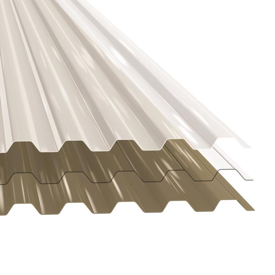 Tuftex Polycarb 2 17 Ft X 12 Ft Corrugated Gray Polycarbonate Plastic Roof Panel In The Roof Panels Department At Lowes Com