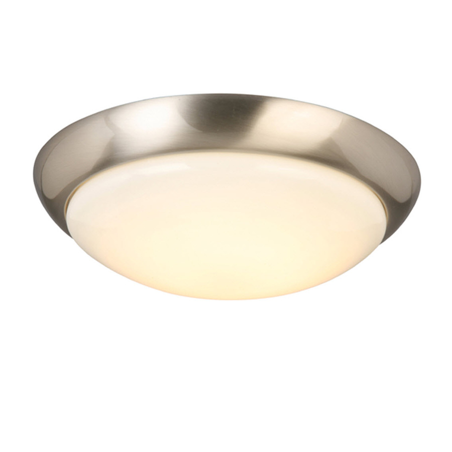 Shop Project Source 13 In W Brushed Nickel Integrated Led