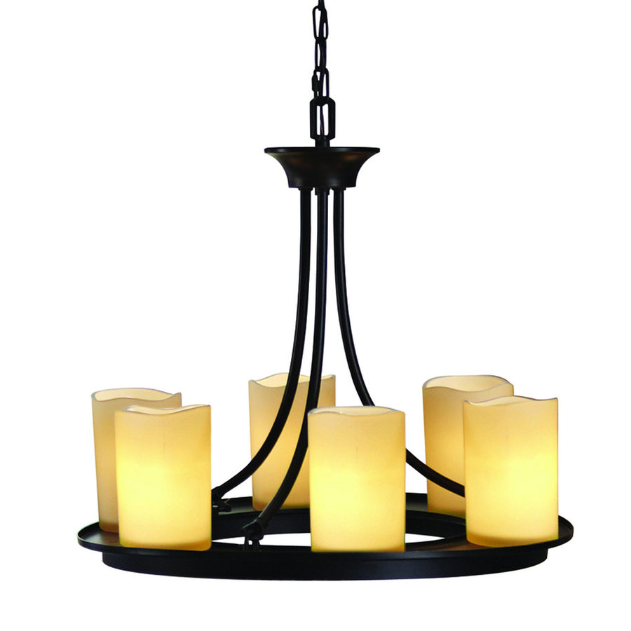 allen + roth Harpwell 7 Light Oil Rubbed Bronze Traditional Chandelier