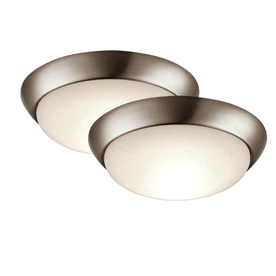 Shop Project Source 2 Pack 11 In W Brushed Nickel Led