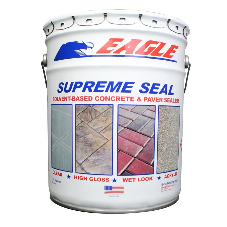Shop Eagle 5 Gallon Clear High Gloss Concrete Sealer At