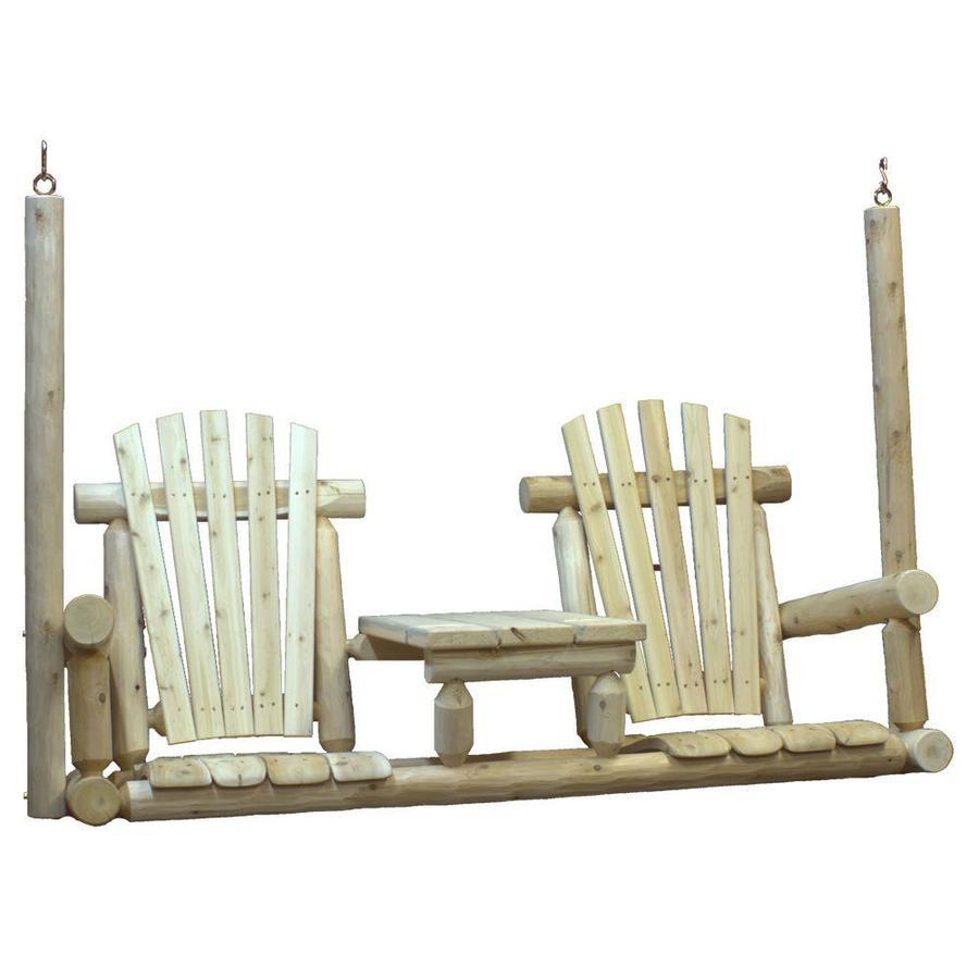 Shop Lakeland Mills 2 Seat Wood Rustic Tete A Tete Porch