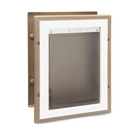 Petsafe Large Tan Aluminum Wall Pet Door (Actual: 16.875-...