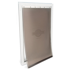Display product reviews for Aluminum X-Large White Aluminum Pet Door (Actual 23.75  sc 1 st  Loweu0027s & Shop Pet Doors u0026 Gates at Lowes.com pezcame.com