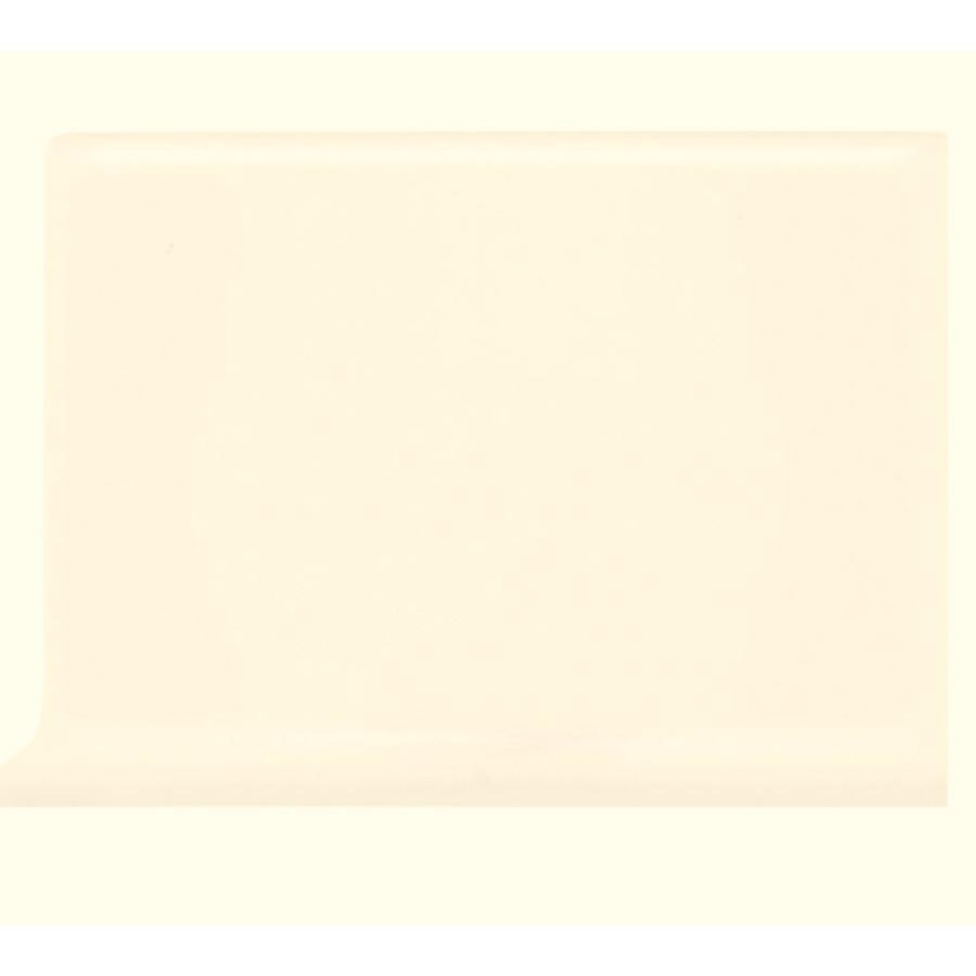 American Olean Bright White Ceramic Cove Base Tile (Common 4
