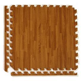 Greatmats 25-Pack 24-In X 24-In Dark Woodgrain Loose Lay ...
