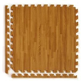Greatmats 25-Pack 24-In X 24-In Medium Woodgrain Loose La...