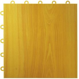 VCT Tile: Greatmats Flooring Max Tile Maple Plank 12 in. x 12 in. x 5/8 in. Vinyl Interlocking Raised Modular Floor Tile (Case of 26) brown MAXTMAP26