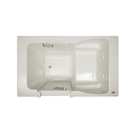 Jacuzzi Finestra 60-In Oyster Acrylic Walk-In Whirlpool T...