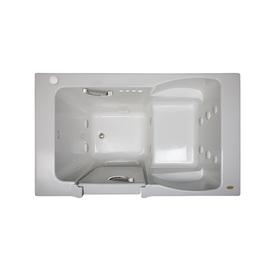 Jacuzzi Finestra 60-In White Acrylic Walk-In Whirlpool Tu...