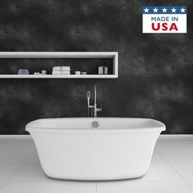 Shop Jacuzzi Primo Acrylic Oval Freestanding Bathtub With