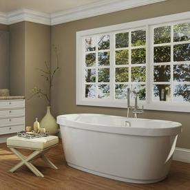 Jacuzzi Inizio 65.5-In White Acrylic Bathtub With Center ...