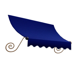 Awntech 124.5000-in Wide x 36-in Projection Navy Solid Open Slope Window/Door Fixed Awning ECH23-10N