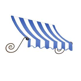 Awntech 52.5000-in Wide x 36-in Projection Bright Blue/White Striped Open Slope Window/Door Fixed Awning ECH23-4BBW