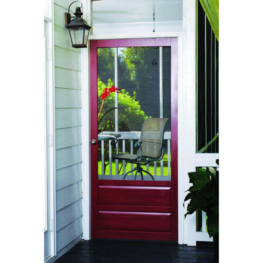 Screen Tight Hampton 36 In X 80 In Wood Wood Frame Hinged Decorative Screen Door In The Screen Doors Department At Lowes Com Combination exterior doors are perfect for the homeowner who wants to have the breeze roll through their home without the security risk of using just a screen door. lowe s