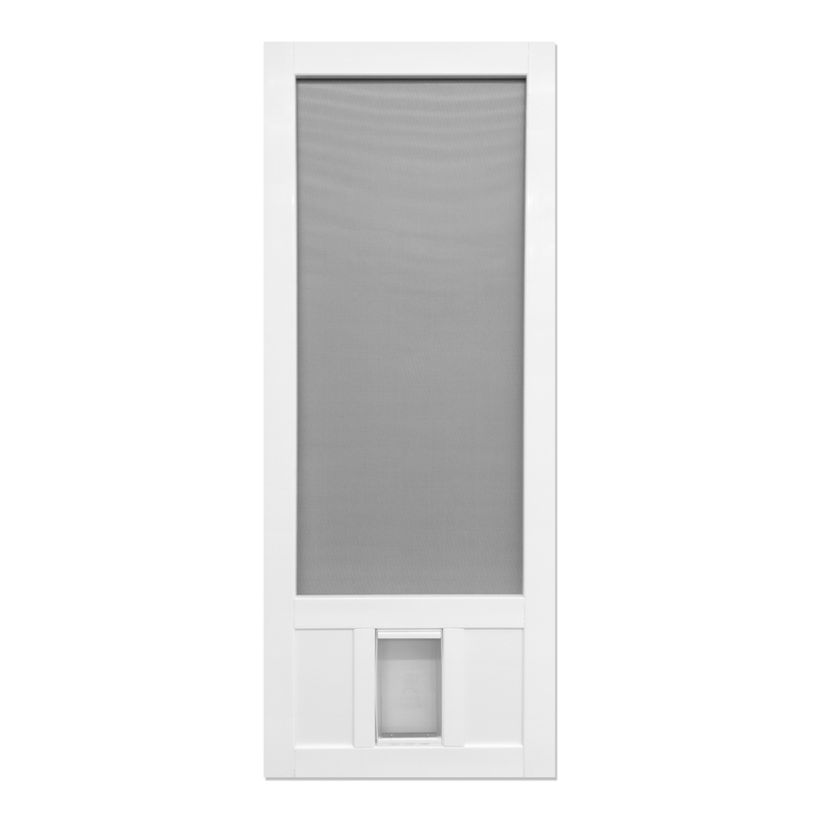 Shop Screen Tight Chesapeake White Vinyl Screen Door With