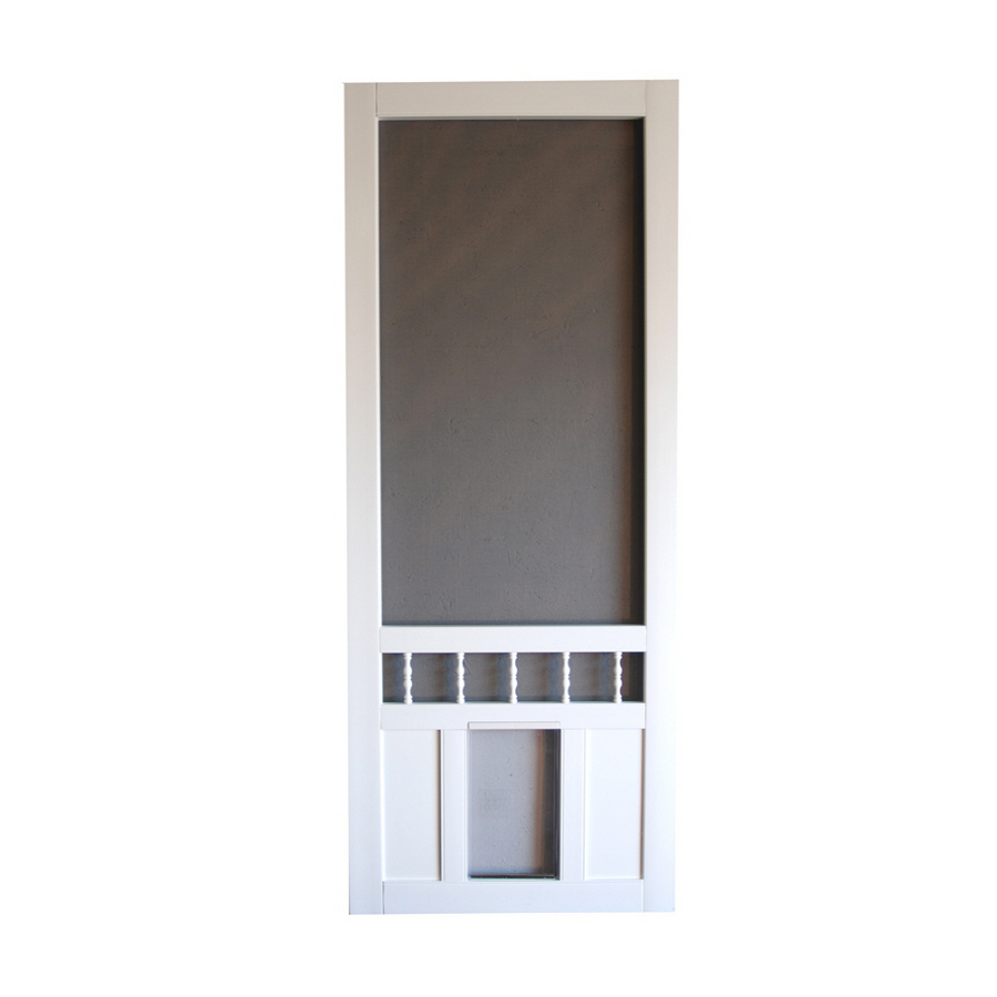 Shop Screen Tight Southport 30 In White Vinyl Screen Door
