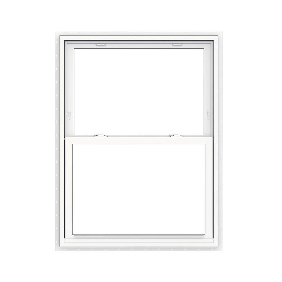 Jeld Wen V 2500 35 5 In X 47 5 In Vinyl New Construction White Double Hung Window In The Double Hung Windows Department At Lowes Com