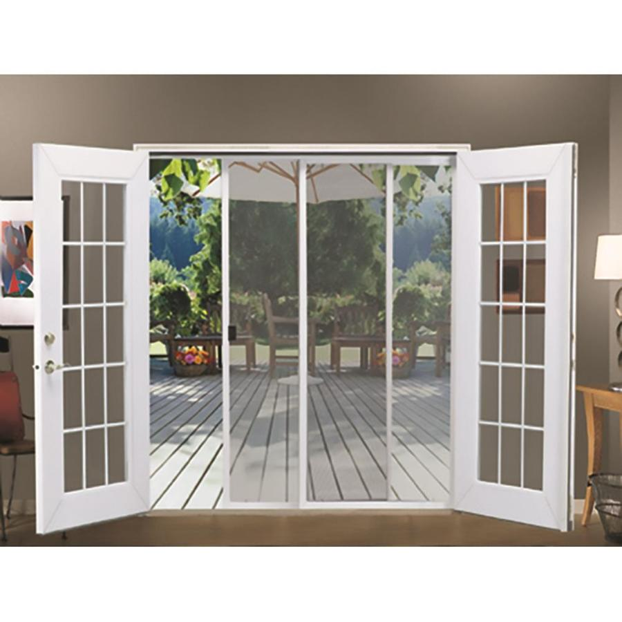 Jeld Wen 72 In X 80 In White Aluminum Frame Sliding French Door Screen Door In The Screen Doors Department At Lowes Com A handsome exterior screen door is perfect for almost any porch or porch enclosure. lowe s