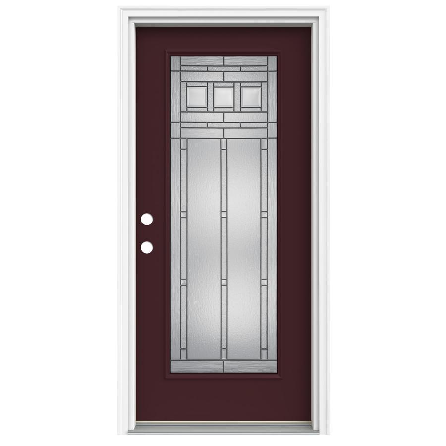 Lowes Exterior Doors: Shop ReliaBilt Full Lite Decorative Currant Prehung