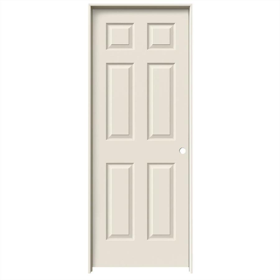 Shop reliabilt 6 panel solid core smooth molded composite - Single panel prehung interior doors ...