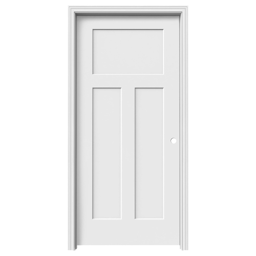 Reliabilt Craftsman Primed Hollow Core Molded Composite Single Prehung Interior Door Common 36