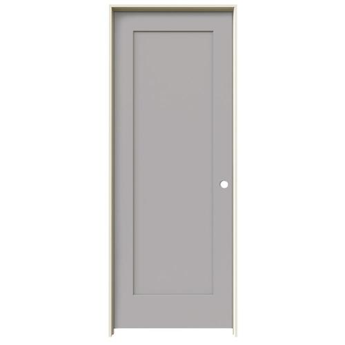 JELD-WEN Madison Driftwood 1-Panel Square Solid Core Molded Composite Single Prehung Door (Common: 28-in X 80-in; Actual:...