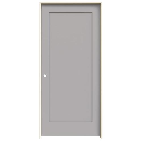 JELD-WEN Madison Driftwood 1-Panel Square Solid Core Molded Composite Single Prehung Door (Common: 36-in X 80-in; Actual:...