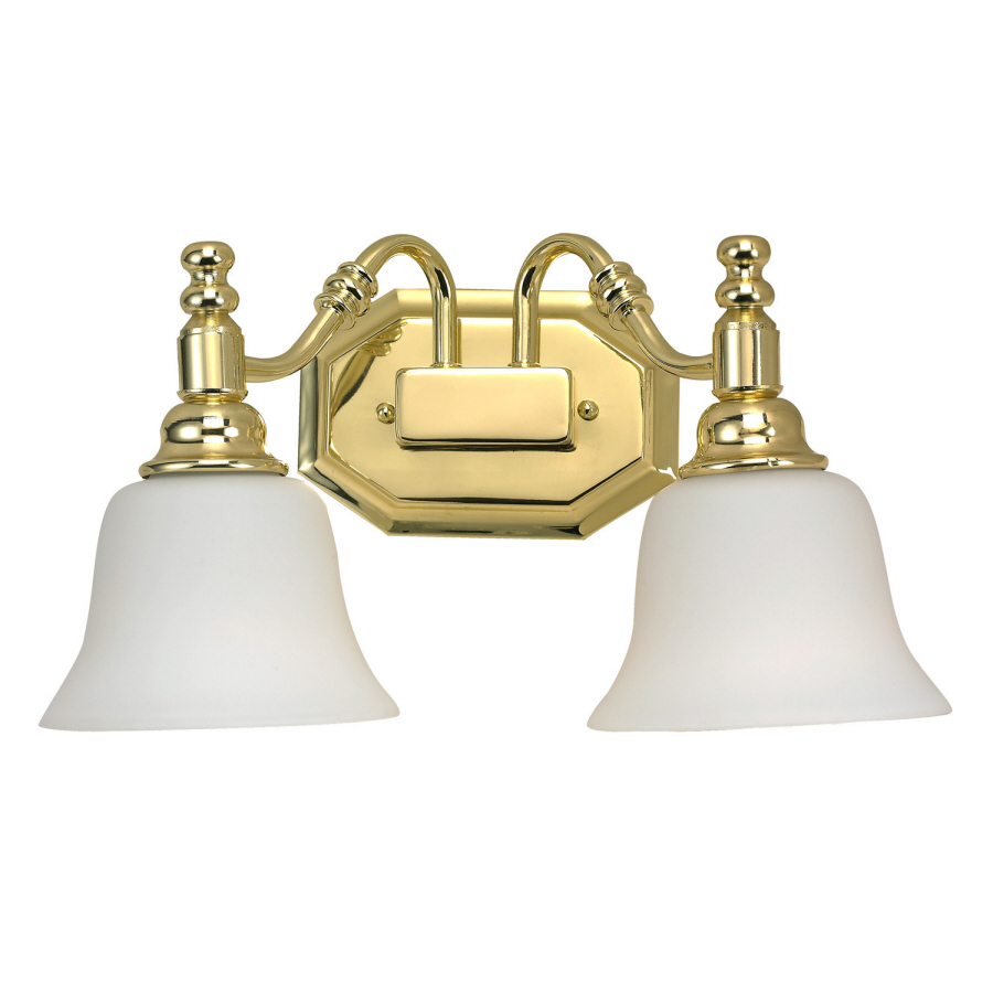 Bathroom Vanity Lights Brass: Shop Bel Air Lighting 2-Light Polished Brass Bathroom