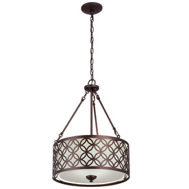 drum lighting lowes. display product reviews for earling 18-in dark oil-rubbed bronze single pendant drum lighting lowes