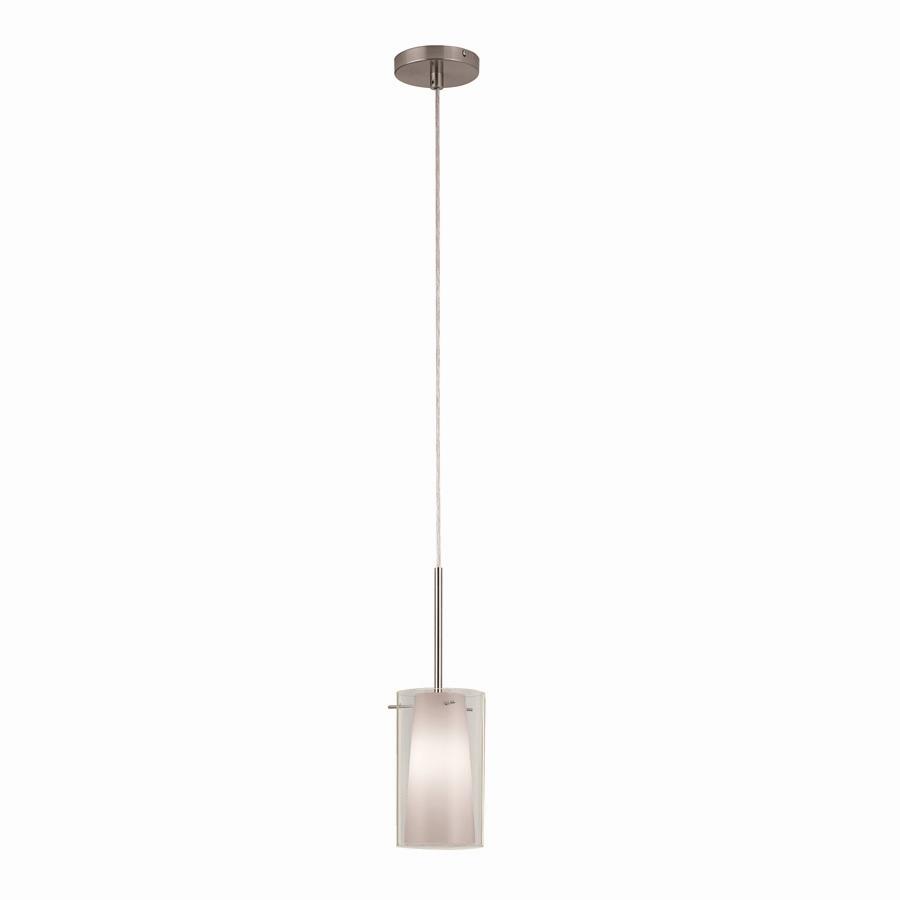 Lowes Pendant Lights: Shop Portfolio 5-in W Brushed Nickel Mini Pendant Light