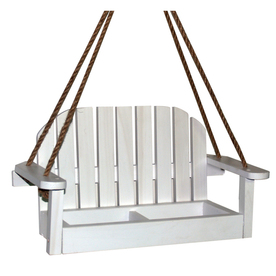 Garden Treasures White Chair Platform Feeder