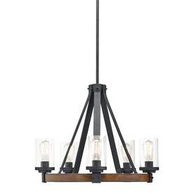 Display Product Reviews For Barrington 2402 In 5 Light Distressed Black And Wood Rustic