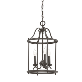 display product reviews for menlo park 1201in olde bronze wrought iron single cage pendant